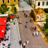 Exeter From Above, tilt shift photography cityscape street photographer herefordshire 4873