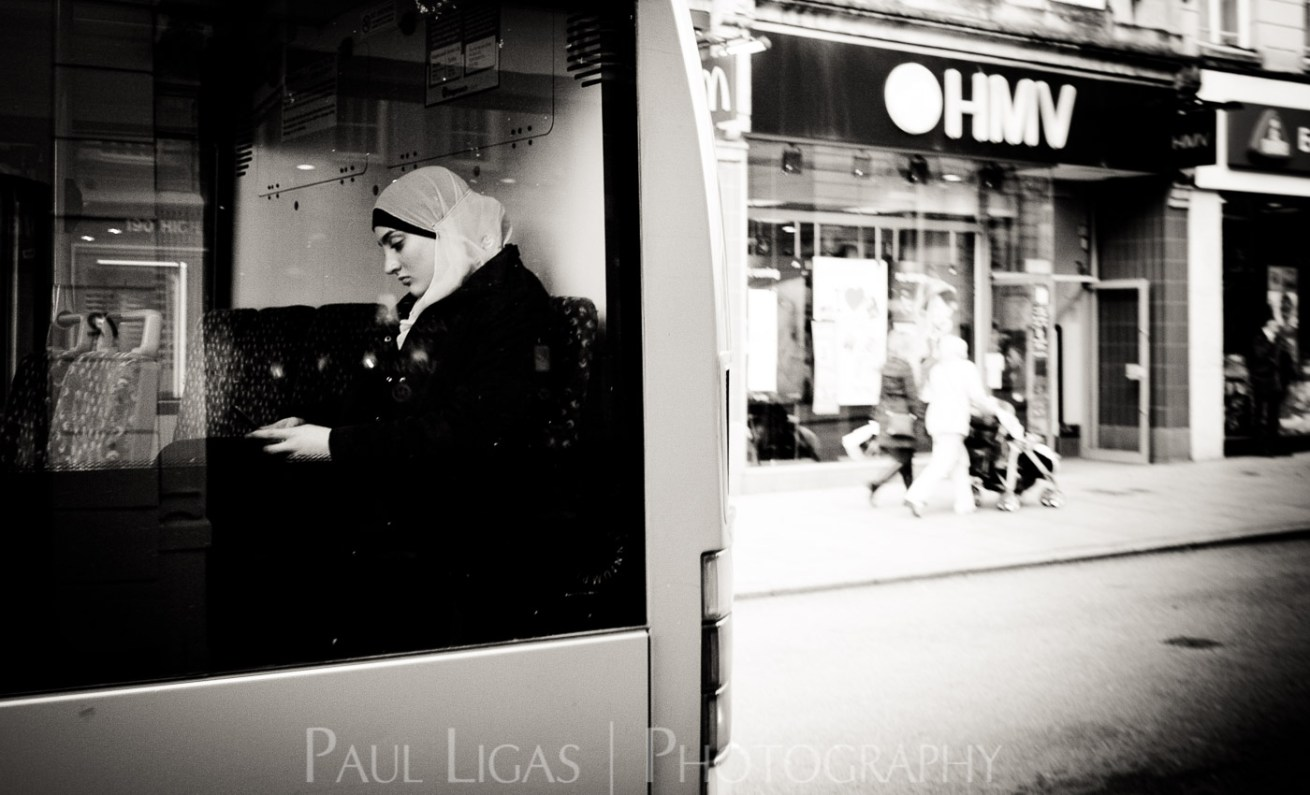 On The Bus, Exeter, street photographer photography Herefordshire candid 2484