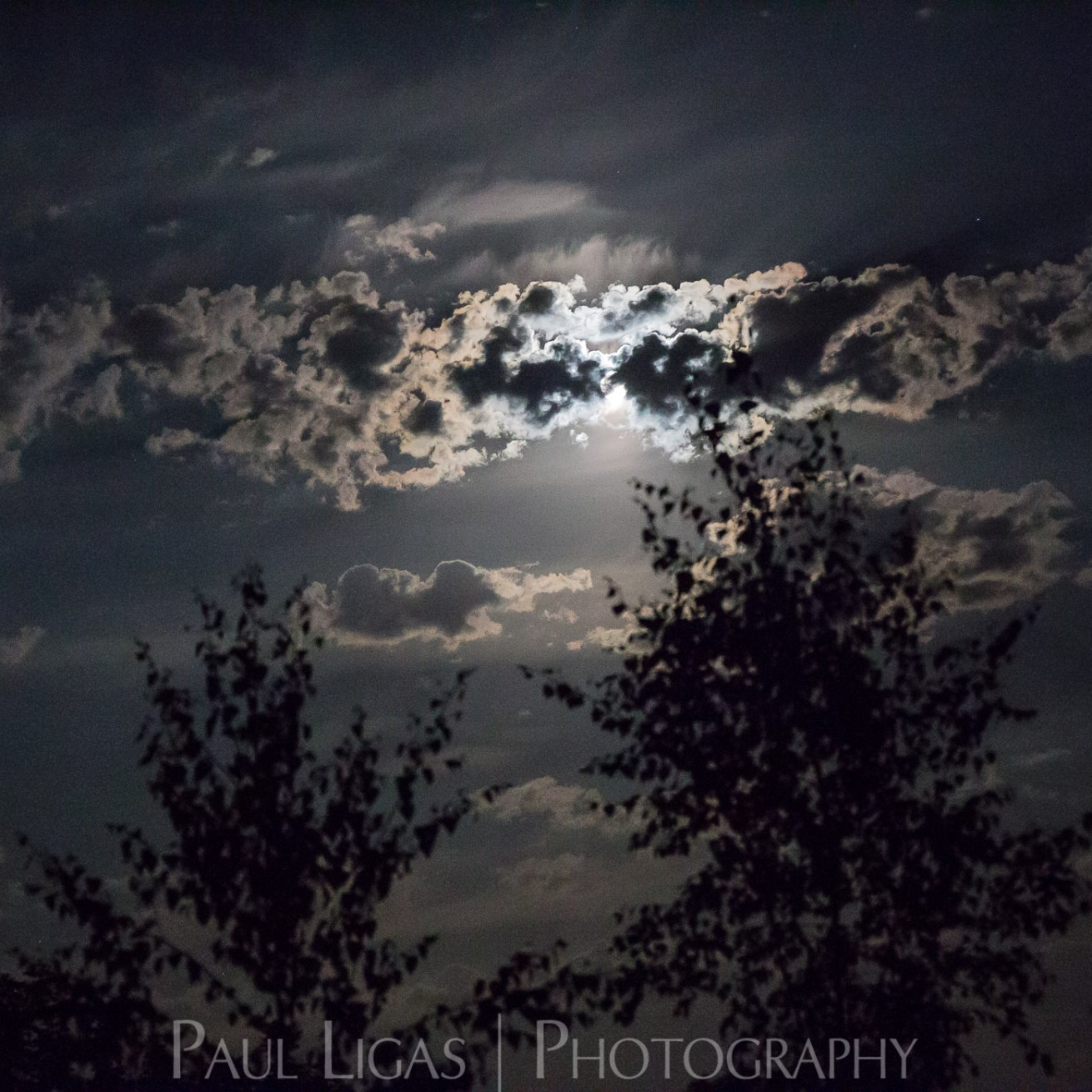 The Moon behind clouds photographer photography Herefordshire astrophotography landscape 0064