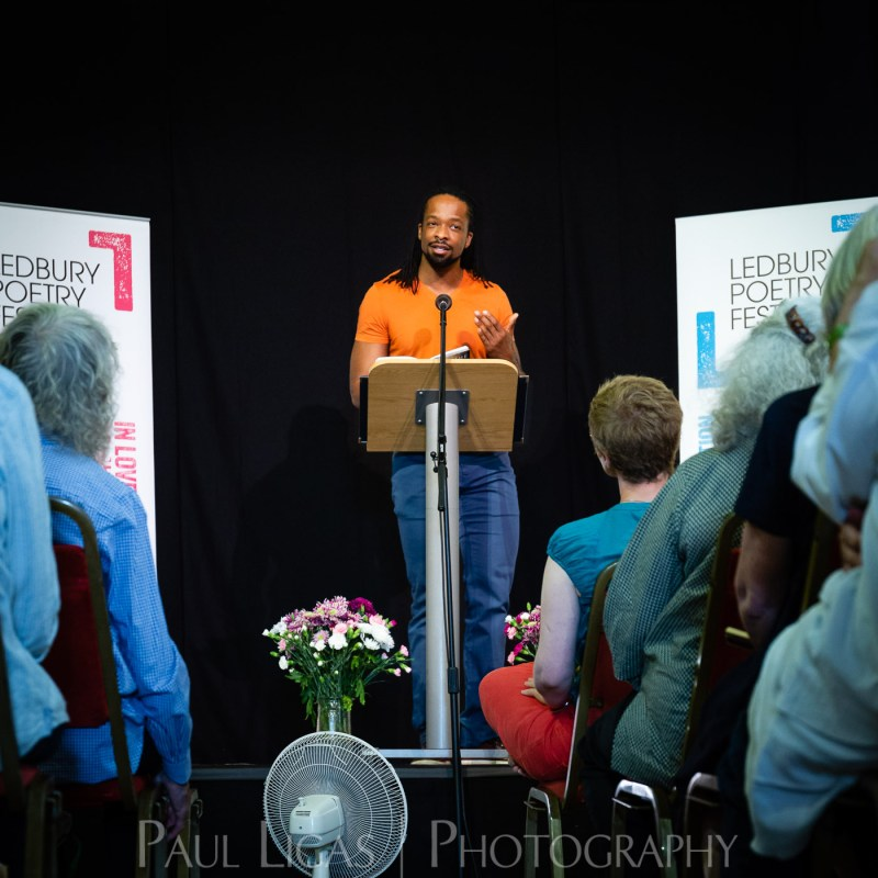 Ledbury Poetry Festival 2018 event photographer herefordshire Jericho Brown 8759