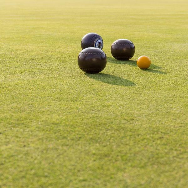 Paul Ligas Photography print Lawn Bowling Balls on the Green