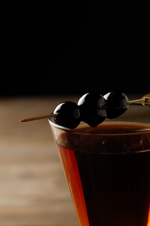Paul Martin's American Grill Manhattan Cocktail with Luxardo cherries #paulmartinsag