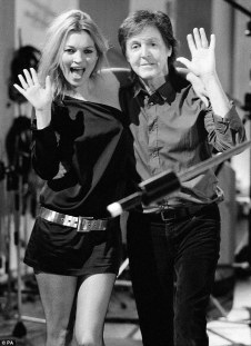 Kate Moss and Paul McCartney