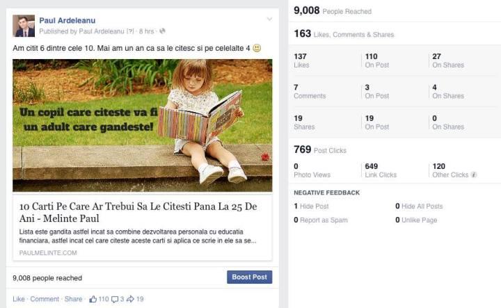 statistici Facebook Paul Ardeleanu