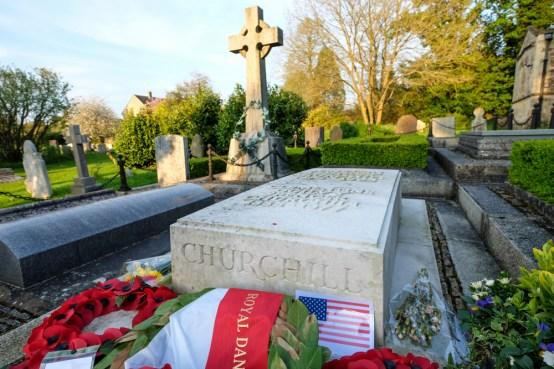 Churchill's grave at Blazon