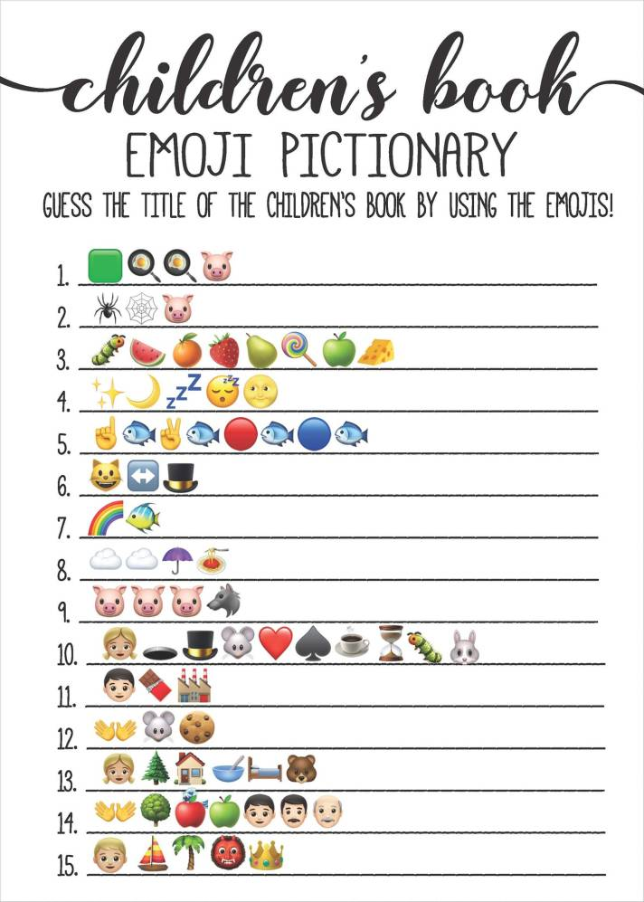 Emoji Pictionary | Can you guess the books? - Paul ...