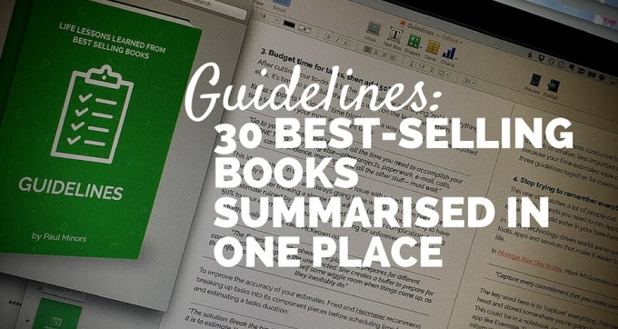 guidelines 30-best-selling books summarised in one place