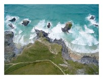 The legend of a giant called Bedruthan using the beach stacks as stepping stones to achieve a short cut across the bay