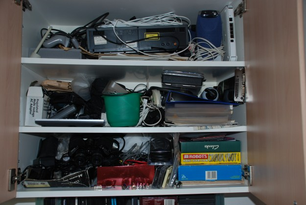 Behold: Paul Nettleton's man cupboard. What's in yours?