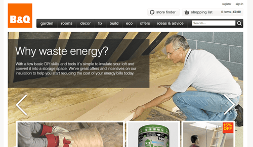 B and Q Ecommerce Website