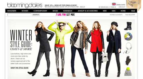 Bloomingdales Ecommerce Website