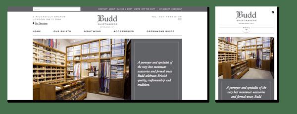 Budd Shirts Ecommerce
