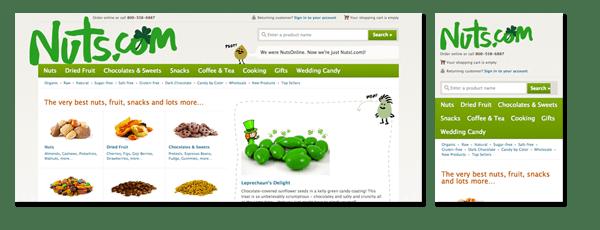 Nuts.com Ecommerce