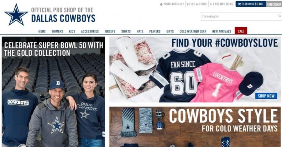 Shop Dallas Cowboys
