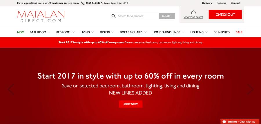 Matalan Direct Shopify Plus