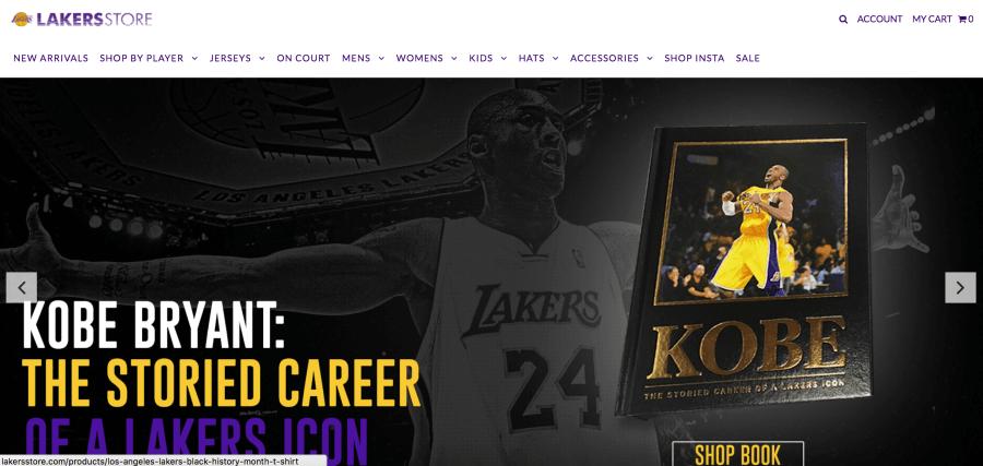 LA Lakers Shopify Plus