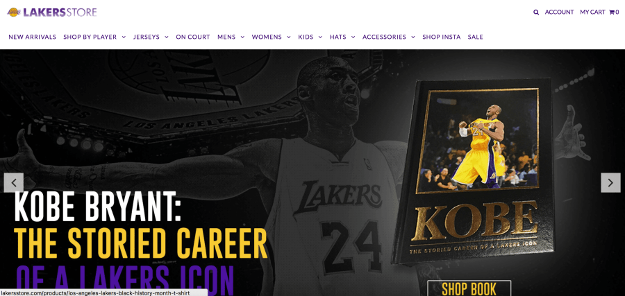 LA Lakers Shopify Plus