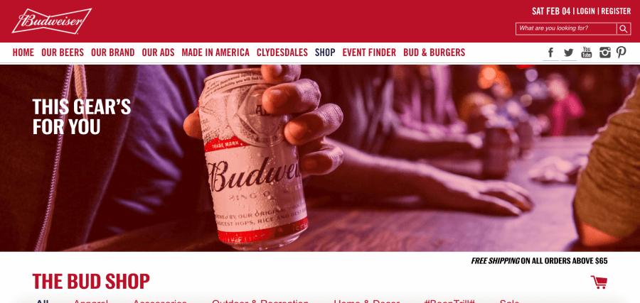 Budweiser Shopify Plus