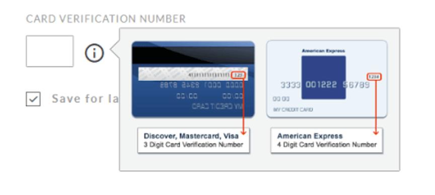 CVV number info