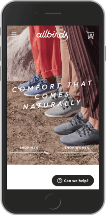 Allbirds on mobile