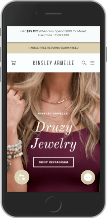 Kinsley Armelle on mobile