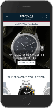 Bremont on mobile