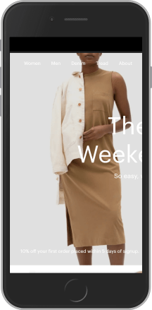 Everlane on mobile