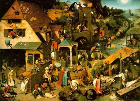 Netherlandish Proverbs by Pieter Bruegel
