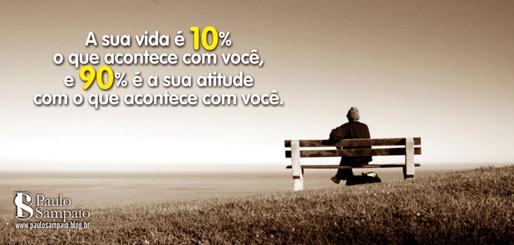 A sua vida é 10% o que acontece com você