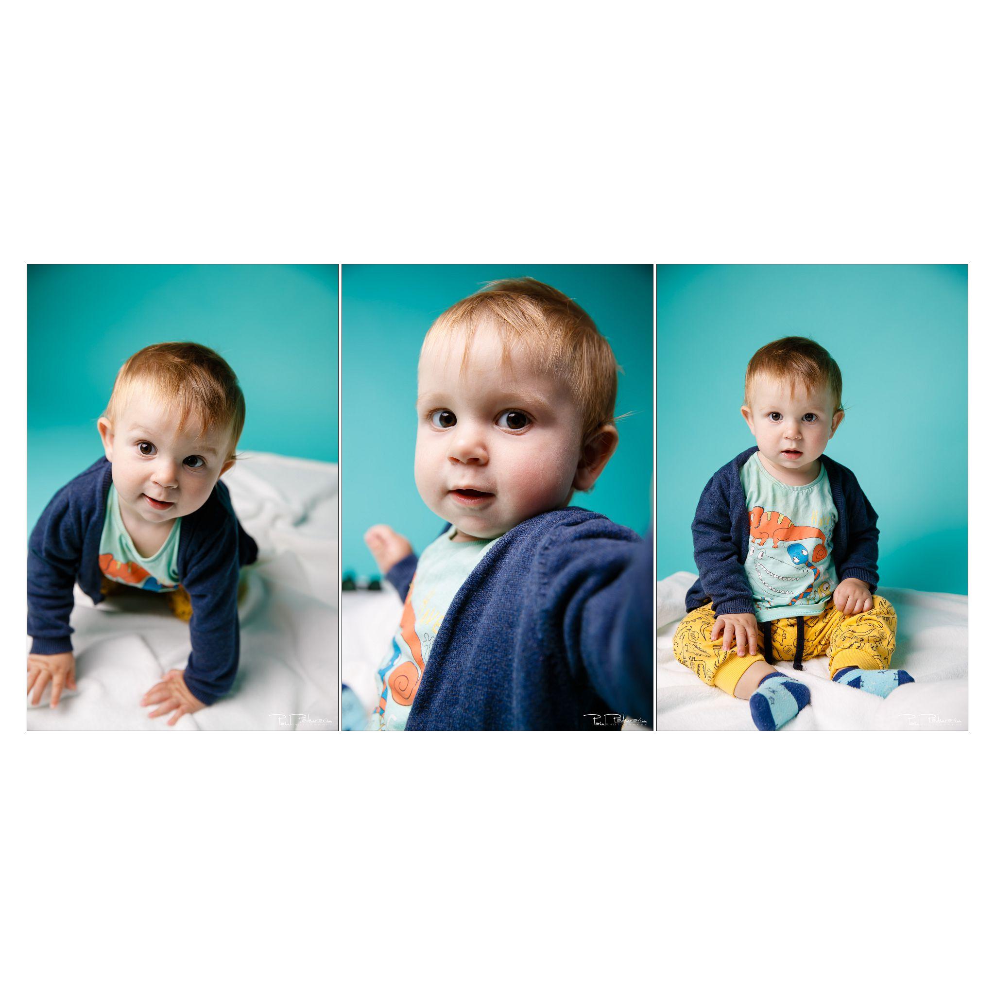 Colaj Sedinta foto pentru copii la Studio Foto Paul Padurariu Iasi - fotograf profesionist