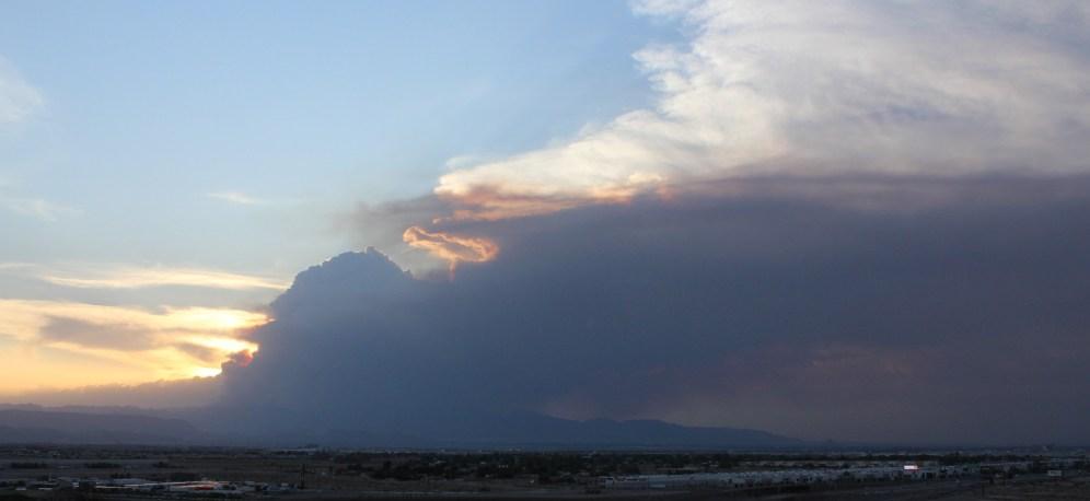 Smoke Plume from Mt Charleston Fire