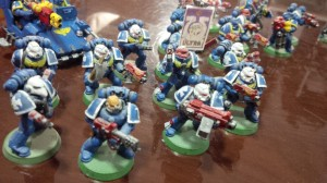 Detail of Warhammer 40k Space Marines