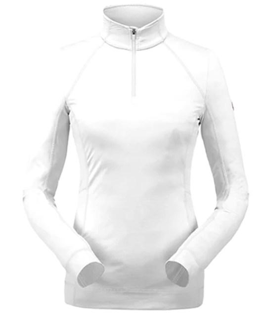 Spyder Savona Zip T-Neck Mid-Layer-White