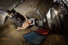 Story of Two Worlds V15, 2nd ascent, Cresciano, Switzerland