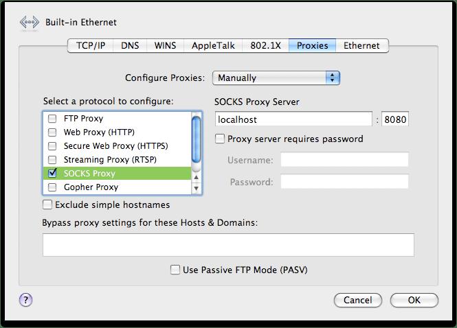 mac ssh through socks proxy