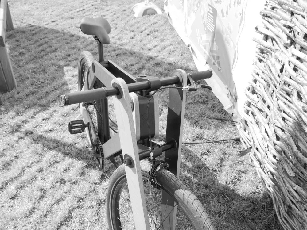 I like bikes with frames made from wood, even plywood.