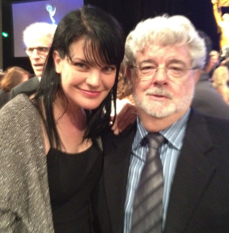Pauley Perrette and George Lucas