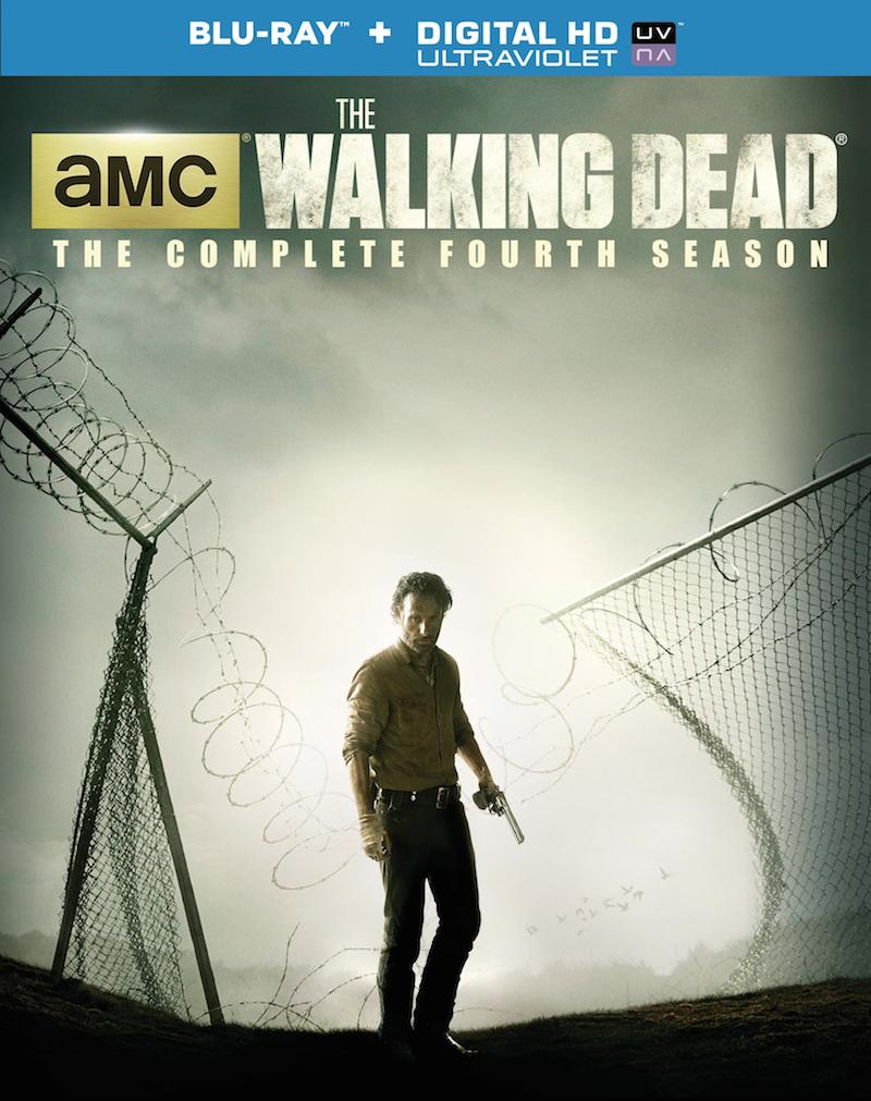 The Walking Dead The Complete Fourth Season Blu-ray and DVD cover
