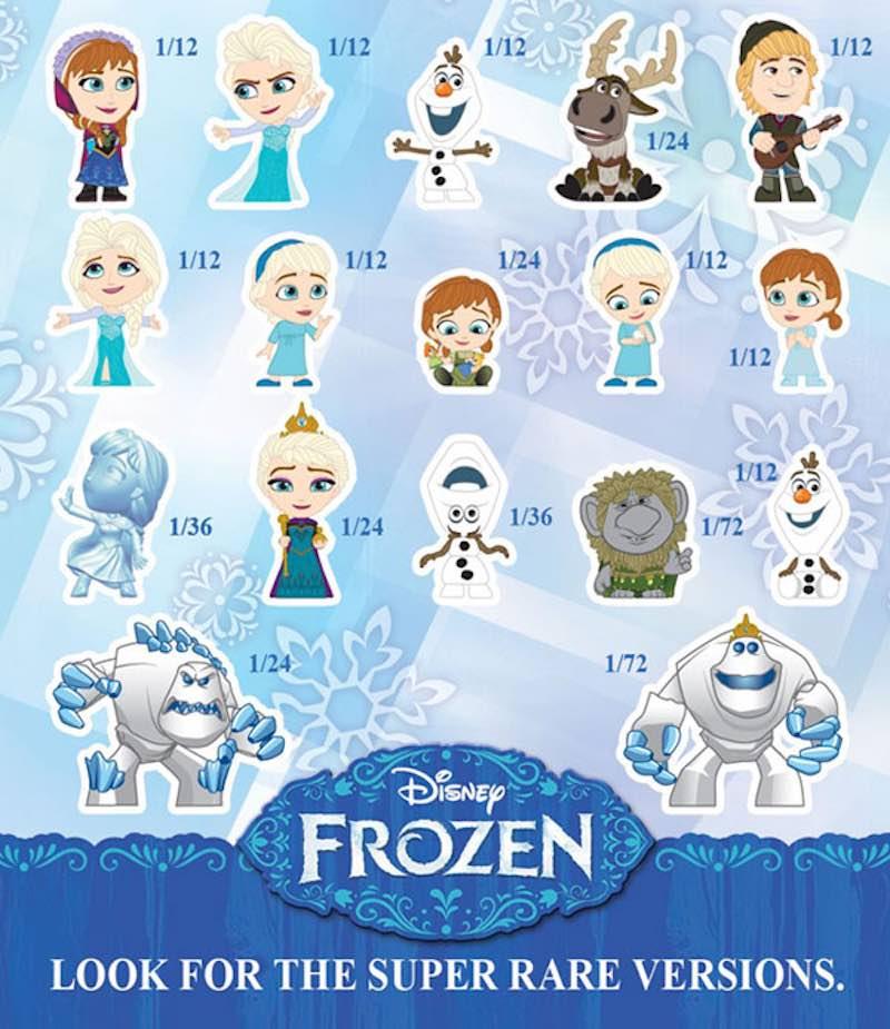 Funko Frozen Mystery Minis chart