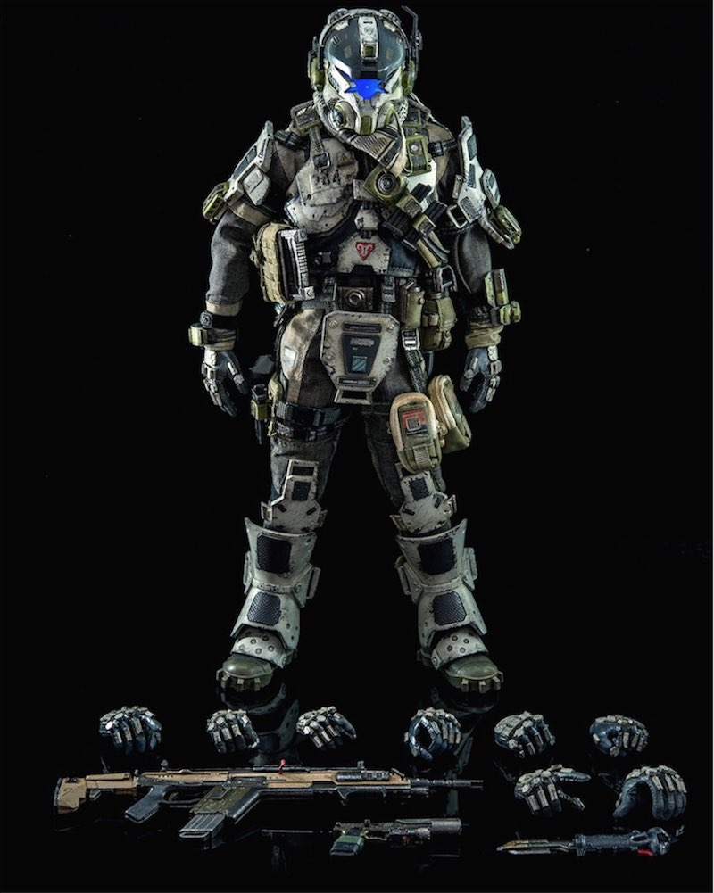 ThreeZero Titanfall IMC Battle Rifle Pilot with guns
