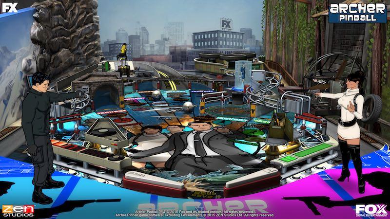 Archer screenshot Balls Of Glory Zen Pinball 2 Pinball FX Archer Family Guy Bobs Burgers American Dad