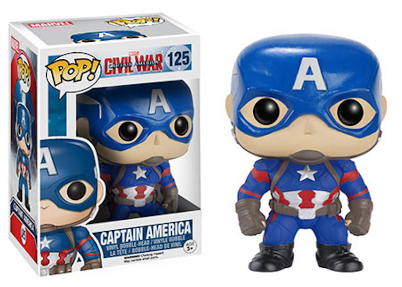 Funko POP! Marvel Captain America Civil War 125 Captain America