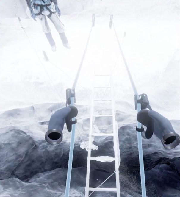 Everest VR crevasse