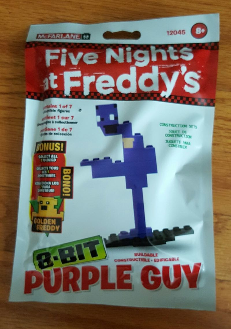 McFarlane Five Nights At Freddy's Construction Set 8-Bit Purple Guy