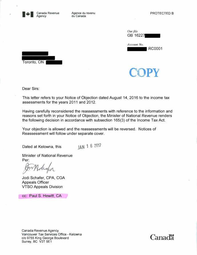 successful-income-tax-appeal-letter-cra