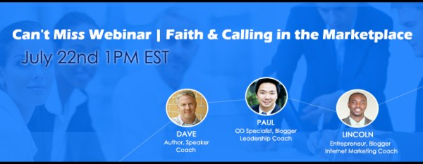 Faith&Calling in the Marketplace Webinar