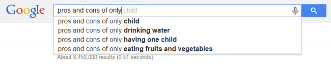 Pros and Cons of Being an Only Child Google Search