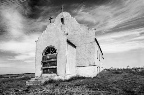 Abandoned Catholic church on Native American Reservation in Northern Montana.