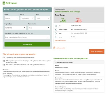carama-car-service-price-estimator