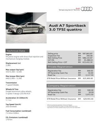 Audi A7 Sportback Brochure Page 1